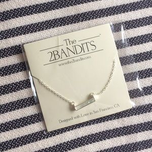 The 2Bandits Silver plated necklace